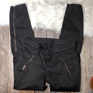 J Brand Pants Cargo 25 Zipper Sides Black Skinny